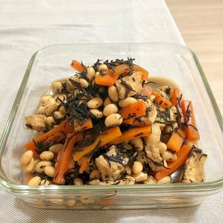 大豆とひじきと薄揚げの煮物