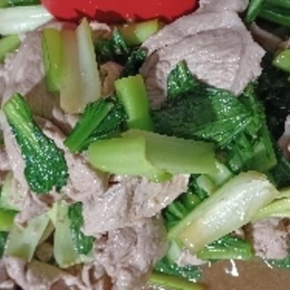小松菜&豚肉ったらぁ~家では定番 また、作ります。