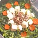 大量消費にも!小松菜と豚こまの常夜鍋♪
