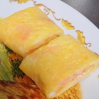 ハムとチーズの卵焼き