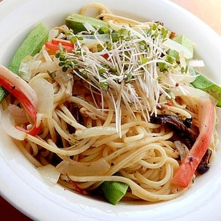 干し椎茸入り海苔の佃煮でスパゲッティー♪(裏技付)