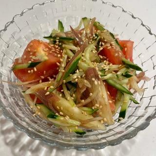 混ぜるだけ⭐胡瓜トマト茗荷の夏サラダ