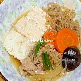 うすくち&濃い口ブレンドで肉豆腐