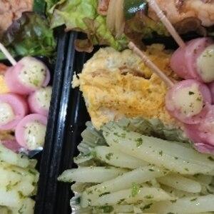 お弁当に♪魚肉ソーセージのチーズ乗せ焼き♪