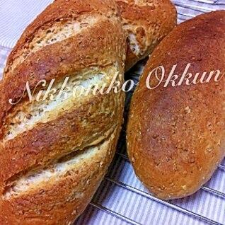 オートミールとグラハム粉のしっかりパン