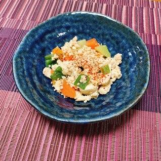余った野菜で炒り豆腐