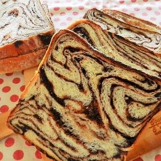 シートから作るチョコマーブルパン