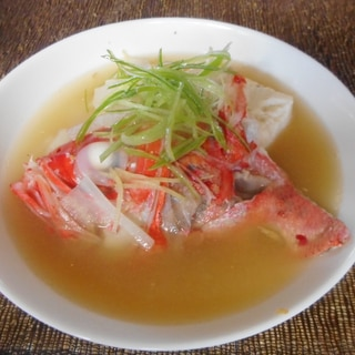 金目と豆腐の味噌汁