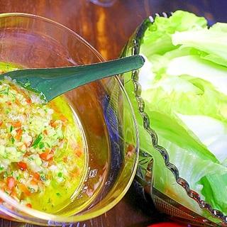 野菜ドレッシング*レタスサラダ