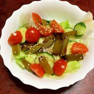 茎わかめのトマトサラダ。