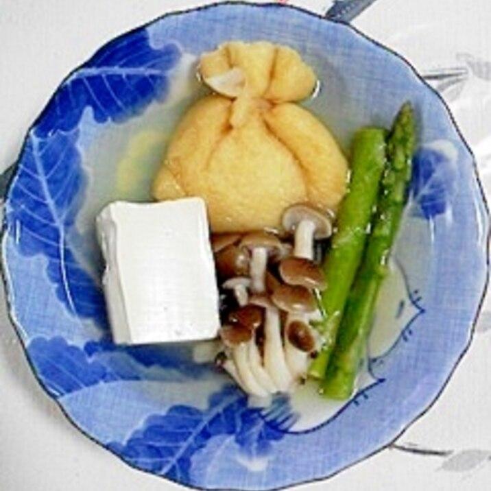 塩とうふとアスパラの煮物