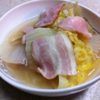 とっても簡単☆白菜とベーコンのスープ