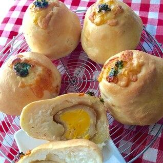 煮卵とマッシュポテトのパン