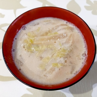 簡単☆白菜の豆乳スープ