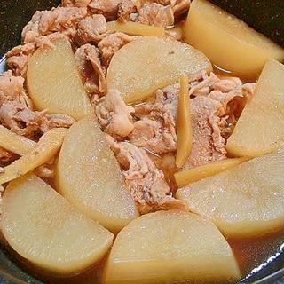 炊飯器で作る大根と豚こまの煮物