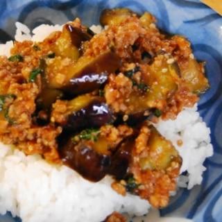 ご飯が進む、ナスとひき肉のピリ辛味噌炒め