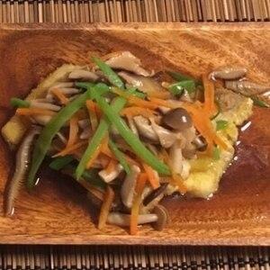 さわらの竜田揚げ 彩り野菜あんかけ♪