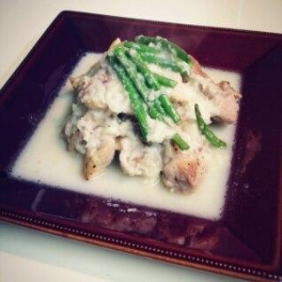 鶏もも肉とインゲン豆のうまうまガーリックソース♪