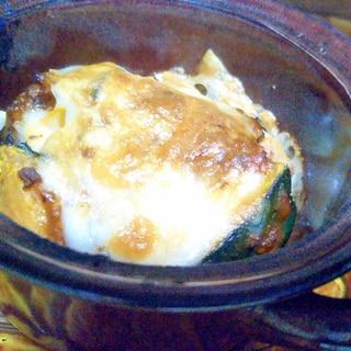 南瓜のミートソースチーズ焼き