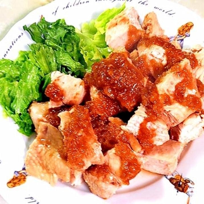 玉ねぎで柔らかく!鶏むね肉の玉ねぎソース漬け焼き♪