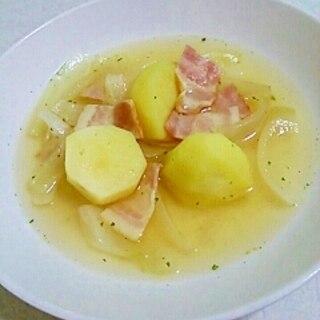 ごろごろ野菜☆新じゃがいもと新玉ねぎの簡単スープ♪
