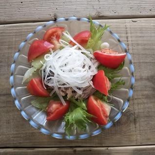 サバ水煮缶ヘルシーサラダ