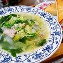 キャベツと若芽のスープ