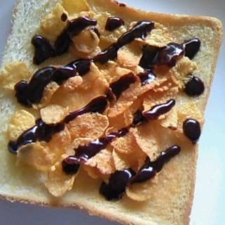 コーンフレーク&チョコ☆食パン