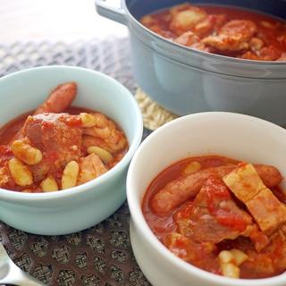 カスレ!(白いんげん豆と肉のトマト煮込み)