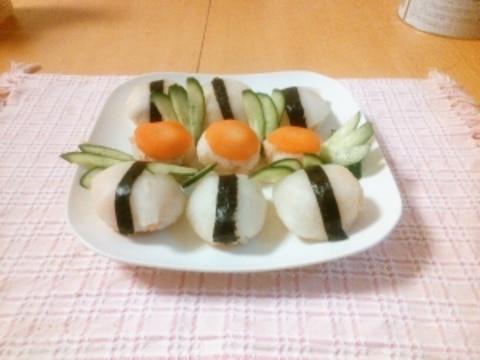 野菜の一口寿司