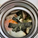 スープジャーでオートミールランチ②牛だし白湯