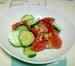 キュウリとトマトの中華和え++