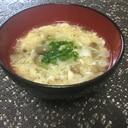 白だしでカンタン♫キノコのかき卵スープ