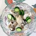 牡蠣、胡瓜の酢の物