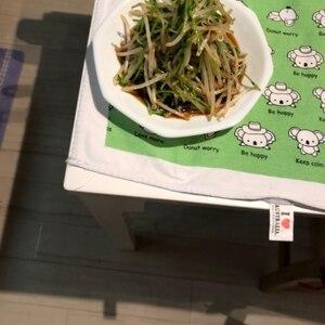 豆苗ともやしの中華風サラダ