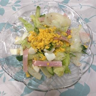 レタス&ハムのミモザサラダ(*^^*)☆