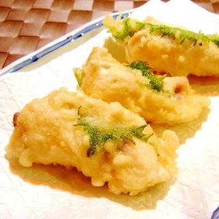 ささみの梅しそ巻き天ぷら