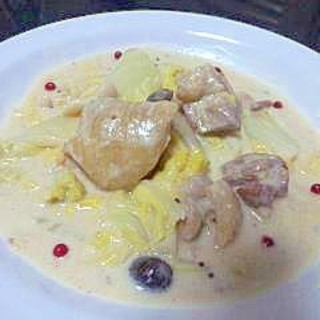 白菜たっぷり★チキンのマスタードクリーム煮★