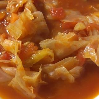 キャベツとツナのトマトスープ