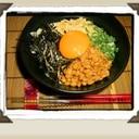 ネバネバグルグルして納豆うどん☆