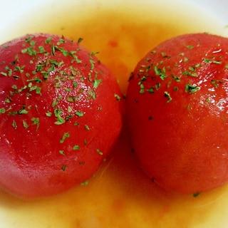 夏はひやしで!冬はあったかホットで! トマトおでん