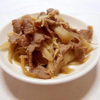 牛ごぼうのしぐれ煮風(冷凍可能)