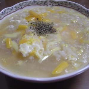 チーズリゾット風☆チーズ雑炊