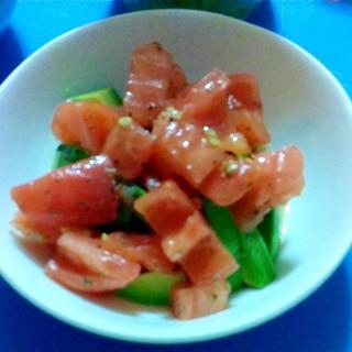 アボカドトマトのバジルサラダ