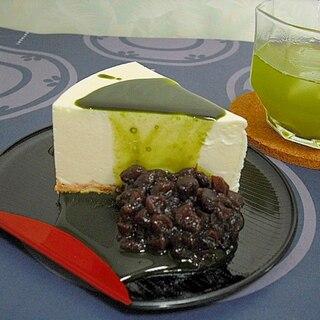 抹茶シロップではんなり味わう♥ヨーグルトケーキ