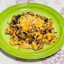 簡単☆ひき肉のキムチチーズ炒飯