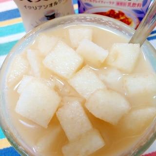 アイス☆梨とアールグレイの大麦ラテ♪