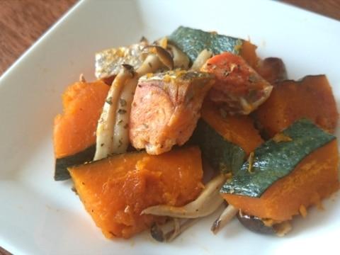 鮭とかぼちゃの塩バター煮