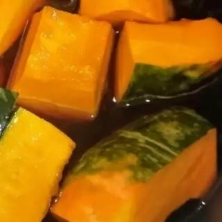 金柑シロップで♫かぼちゃの煮物