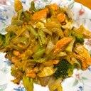 絶品★鮭とブロッコリーのペペロンチーノ炒め